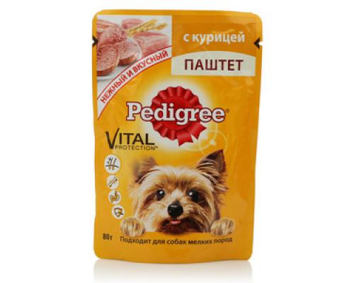 Паштет для взрослых собак мелких пород с курицей ТМ Pedigree (Педигри)
