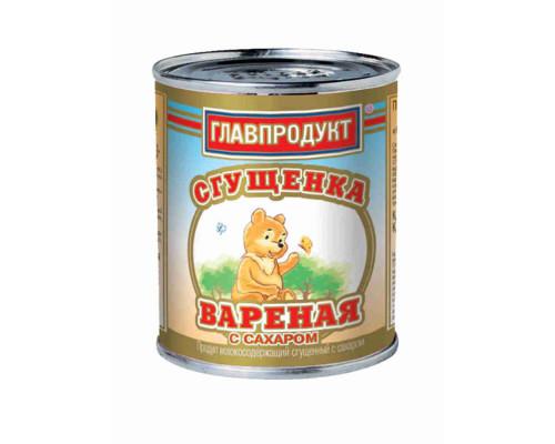 Сгущенка вареная Главпродукт с сахаром с растительным жиром 380г