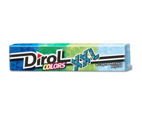 Жевательная резинка ТМ Dirol (Дирол) Colors XXL ассорти мятных вкусов, без сахара, 19 г