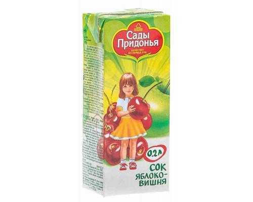 Сок Сады Придонья яблоко/вишня с 5мес 200мл т/п