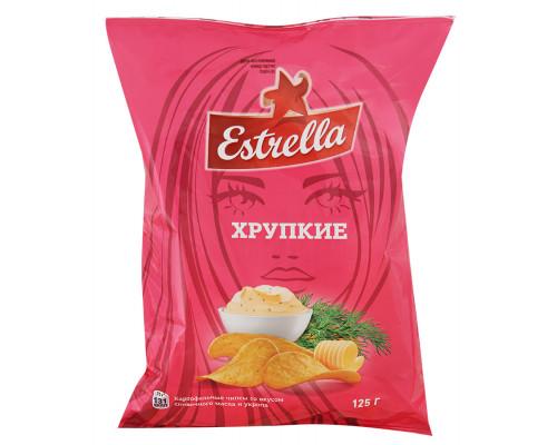 Чипсы Estrella Хрупкие, сливочное масло и укроп, 125 г