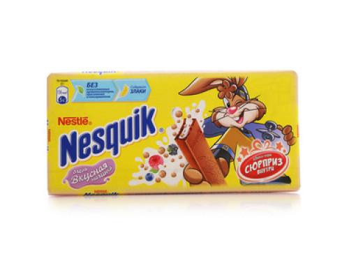 Шоколад молочный с молочной начинкой, ягодами и злаками ТМ Nesquik (Несквик)