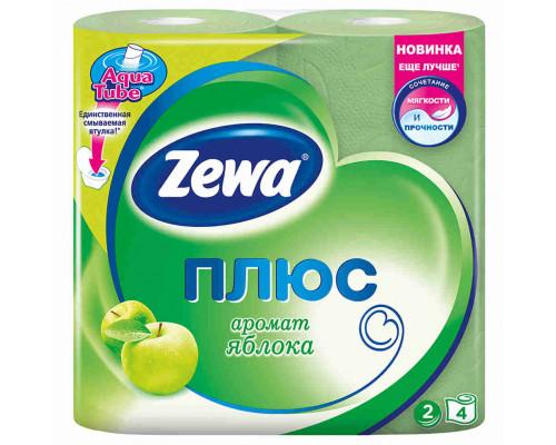 Туалетная бумага Zewa Plus яблоко 2сл 4шт