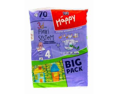 Подгузники детские Happy Bella Happy Maxi a 66шт