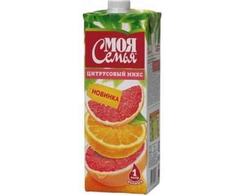 Напиток сокосодержащий ТМ Моя семья цитрусовый микс, 1 л
