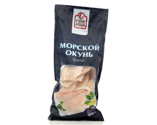 Морской окунь филе без кожи мороженое ТМ Fine Food (Файн Фуд)