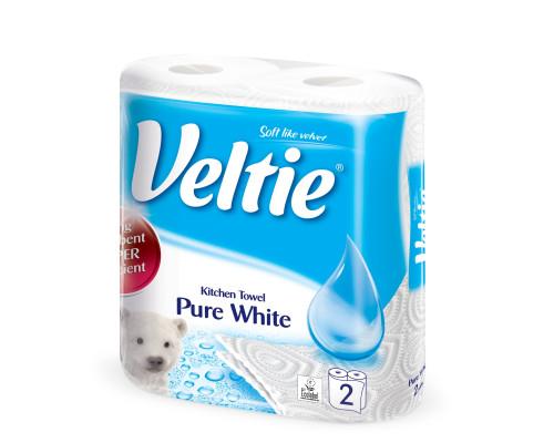 Бумажные полотенца ТМ Veltie (Велти) Pure White, 2 слоя, 2 шт.