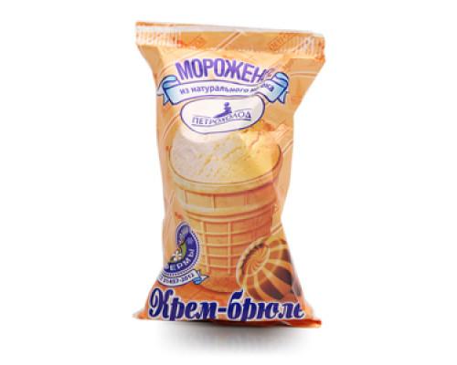 Мороженое крем-брюле в вафельном стаканчике ТМ Петрохолод