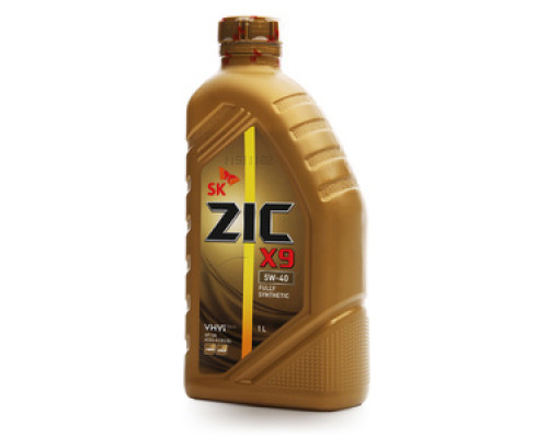 Масло моторное синтетическое X9 5W-40 ТМ ZIC (Зик)
