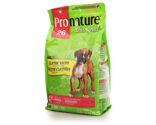 Корм для щенков формула роста мясо ягненка и рис ТМ Pronature (Пронатюр)
