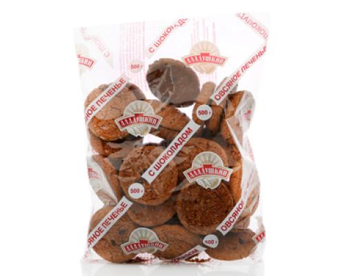 Овсяное печенье с шоколадом ТМ Аладушкин