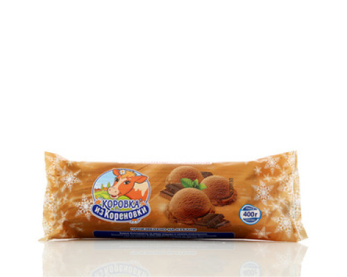 Мороженое пломбир шоколадное ТМ Коровка из Кореновки 15%