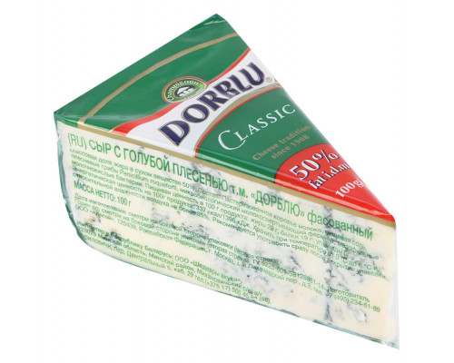 Сыр ТМ Dorblu (Дорблю) Classic с голубой плесенью, 50%, 100 г
