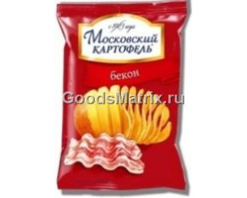 Чипсы картофельные ТМ Московский картофель, со вкусом бекона, 130 г