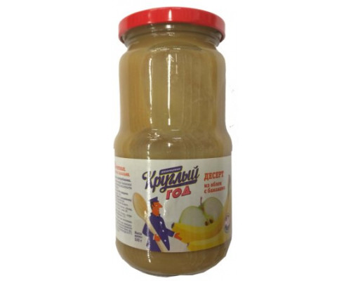 Консервы Круглый год 530г Аппетитно десерт из яблок/банан