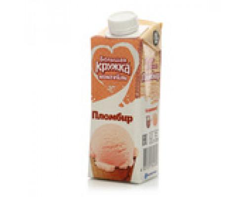 Коктейль молочный ТМ Большая кружка, пломбир, 3%, 250 мл