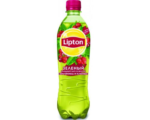 Чай зеленый ТМ Lipton (Липтон) Ice Tea Земляника-Клюква, холодный, 0,5 л