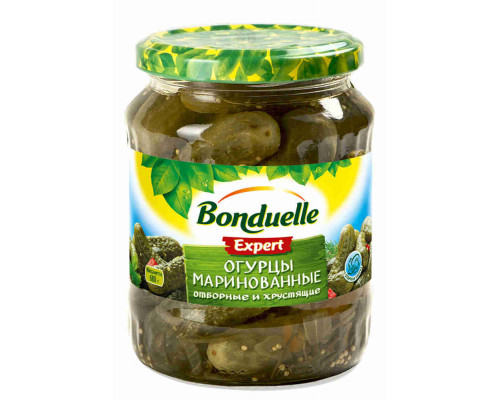 Огурцы ТМ Bonduelle (Бондюэль), маринованные Bonduelle 720 мл