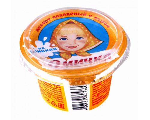 Десерт плавленый Омичка с сыром 50% 100г пл/в