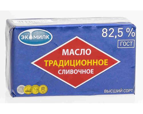 Масло сливочное Экомилк Традиционное 82,5% 450г фольга