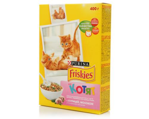 Корм сухой полнорационный для котят, с курицей, молоком и полезными овощами ТМ Friskies (Фрискис)