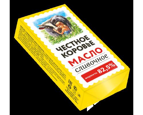 Масло сливочное ТМ Честное Коровье, 82,5%, 180 г