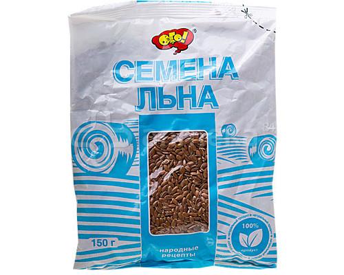Семена льна ТМ Ого!, пищевые, 150 г