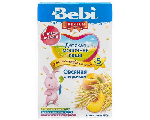 Каша овсяная молочная Bebi Premium персик с 5мес 250г