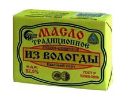 Масло Традиционное из Вологды, 82,5%, 180 г