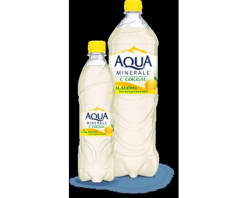 Напиток ТМ Aqua Minerale (Аква Минерале) с соком лимона, негазированный, 1,5 л