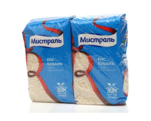 Рис Кубань белый круглозерный 2*900г ТМ Мистраль