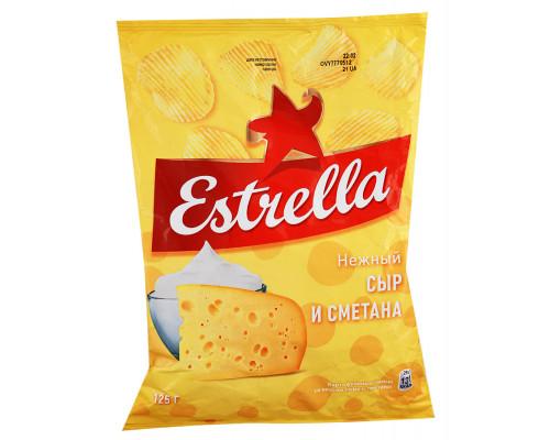 Чипсы Estrella нежный сыр и сметана, 125 г