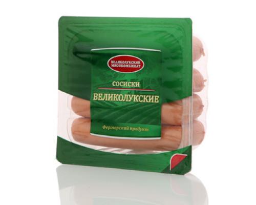Сосиски Великолуксие ТМ Великолукский мясокомбинат
