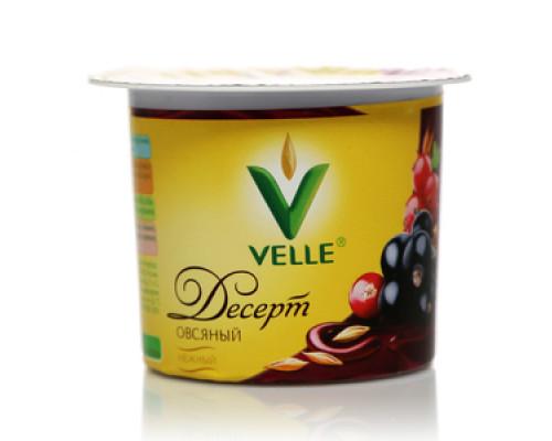 Десерт овсяный с красной и черной смородиной  ТМ Velle (Велле)