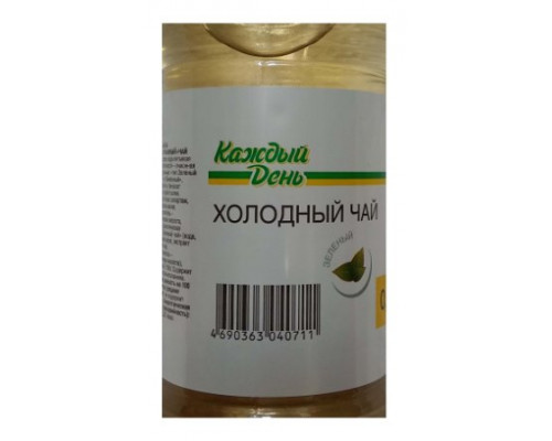 каждый день, холодный чай зелёный, 0,5л