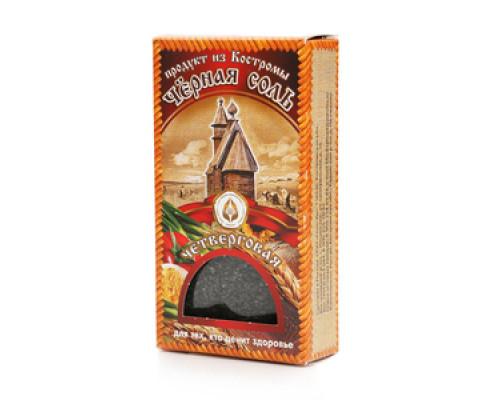 Соль черная четверговая салатная крупная