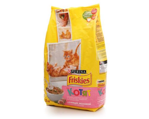Корм сухой с курицей молоком и полезными овощами ТМ Friskies (Фрискис)
