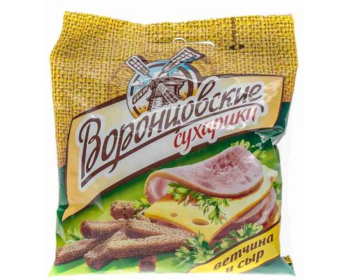 Сухарики ТМ Воронцовские, ржаные ветчина/сыр 40 г