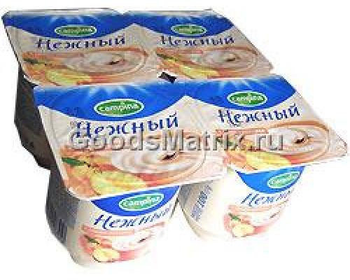 Йогуртовый продукт Campina Нежный с соком персика, жирн. 1,2% 100 г