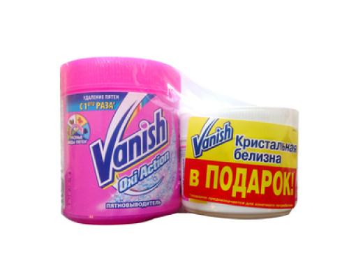 Пятновыводитель OxiAction 500г + OxiCristal white 250г (промоакция) ТМ Vanish (Ваниш)