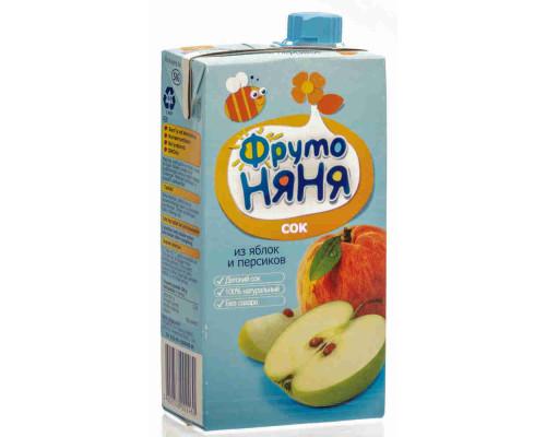 Сок ФрутоНяня яблоко/персик 500мл т/п