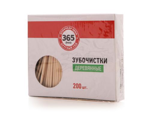 Зубочистки деревянные ТМ 365 дней, 200 шт