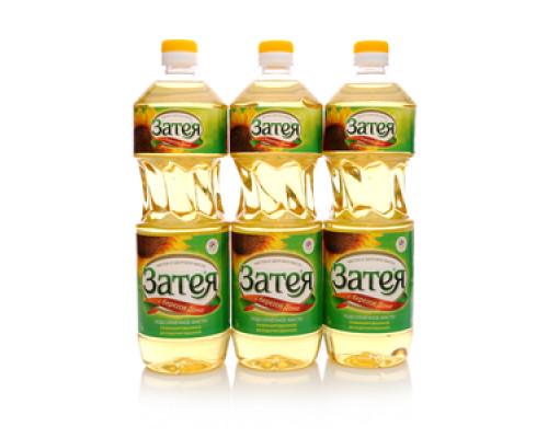 Подсолнечное масло рафинированное дезодорированное 3*1л ТМ Затея