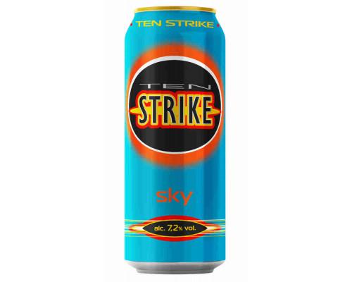 Напиток Тен Страйк Алкон Скай с/а газ аром 7,2% 0,5л ж/б