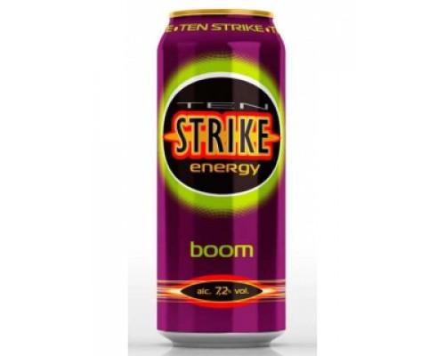 Напиток ТМ Ten Strike (Тен страйк) boom, 7,2%, 500 мл