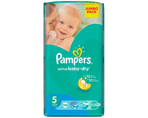 Подгузники ТМ Pampers (Памперс) Active Baby 5, 11-18 кг, 58 шт.