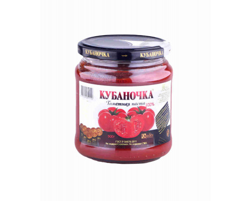 Паста томатная Кубаночка 500г ст/б