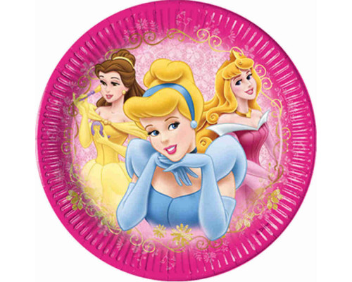 'Тарелки для девочек сер. ''Дисней'' 20 см 10 шт. (в ассорт.) 2132/6389/5600/80456'