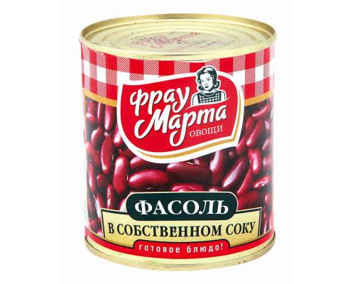 Фасоль красная Фрау Марта в собственном соку 310г ж/б