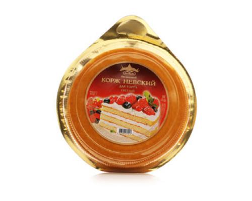 Корж Невский бисквитный для торта 3х слойный светлый ТМ Виадук